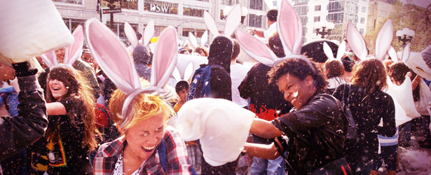 annual New York City pillow fight